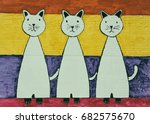 Three White Cats On...