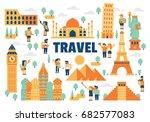 travel flat illustration | Shutterstock .eps vector #682577083