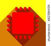 cpu icon illustration. vector.... | Shutterstock .eps vector #682586434