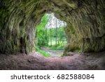 small cave certova pec  devil's ...   Shutterstock . vector #682588084