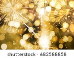 abstract background. gold... | Shutterstock . vector #682588858