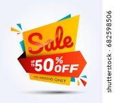sale discount banner design... | Shutterstock .eps vector #682598506