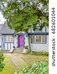 a nice entrance of a house. | Shutterstock . vector #682601044