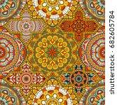 patchwork pattern. vintage...   Shutterstock .eps vector #682605784