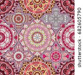 patchwork pattern. vintage...   Shutterstock .eps vector #682605790
