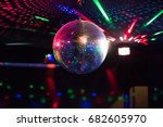 disco ball light reflection... | Shutterstock . vector #682605970