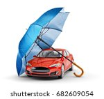 car protection and safety... | Shutterstock . vector #682609054