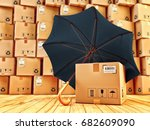 freight cargo protection and... | Shutterstock . vector #682609090