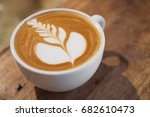 top view of hot coffee... | Shutterstock . vector #682610473