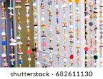 colorful door bead close up | Shutterstock . vector #682611130