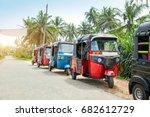 tuktuk taxi on road of sri... | Shutterstock . vector #682612729