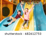 kids riding from childrens... | Shutterstock . vector #682612753