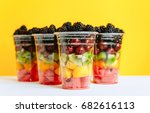 Fruit In A Plastic Cup.