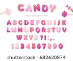 candy glossy font design.... | Shutterstock .eps vector #682620874