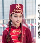Small photo of July 22, 2017. Kfar Kama - Circassian village (Upper Galilee, Israel). Annual international Circassian festival. Young Circassian in folk costume