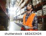 portrait of warehouse worker...   Shutterstock . vector #682632424