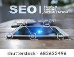 seo. search engine optimization.... | Shutterstock . vector #682632496