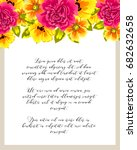 romantic invitation. wedding ... | Shutterstock .eps vector #682632658
