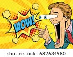 hyper expressive reaction... | Shutterstock .eps vector #682634980
