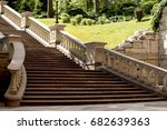 stone staircase with... | Shutterstock . vector #682639363