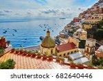 scenic view of positano ... | Shutterstock . vector #682640446