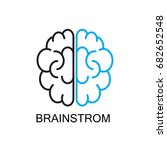 brainstrom  startup icon... | Shutterstock .eps vector #682652548