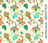 seamless pattern with fantasy... | Shutterstock .eps vector #682657420