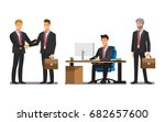 businessman character in the... | Shutterstock .eps vector #682657600