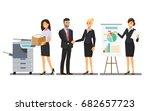 businesswoman character in the... | Shutterstock .eps vector #682657723