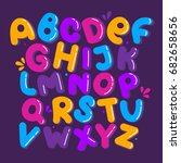 english alphabet vector ... | Shutterstock .eps vector #682658656