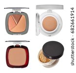 Small photo of Compact powder set on white