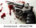 beautiful revolver and red... | Shutterstock . vector #682662748