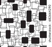 seamless pattern of overlapping ...   Shutterstock .eps vector #682664290