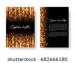 bling background with bright... | Shutterstock .eps vector #682666180