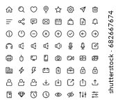 basic line icon set for web and ...
