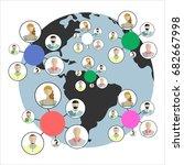 social network vector concept.... | Shutterstock .eps vector #682667998