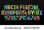 colorful alphabet letters and... | Shutterstock .eps vector #682678690