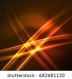 energy lines  glowing waves in...