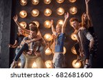 group of friends have fun... | Shutterstock . vector #682681600
