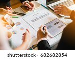 three businessman investment... | Shutterstock . vector #682682854