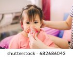 doctor treatment a child who... | Shutterstock . vector #682686043