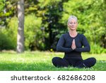 mature middle aged fit healthy... | Shutterstock . vector #682686208
