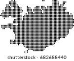 map of iceland | Shutterstock .eps vector #682688440