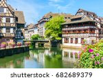 traditional colorful houses in... | Shutterstock . vector #682689379