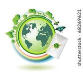 green earth with butterflies... | Shutterstock .eps vector #68269621
