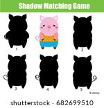 shadow matching game for... | Shutterstock .eps vector #682699510