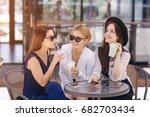 beautiful young girl outdoors...   Shutterstock . vector #682703434