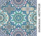 patchwork pattern. vintage...   Shutterstock .eps vector #682704118