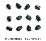 group of tasty ripe blackberry... | Shutterstock . vector #682704154