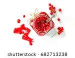 Homemade Jam. Glass Jar With...